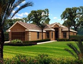 Florida House Plan 55868 Elevation
