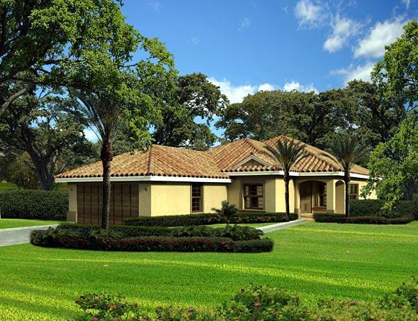 House Plan 55871 Elevation