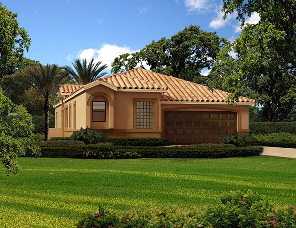 Florida, House Plan 55872 with 3 Beds, 2 Baths, 2 Car Garage Elevation