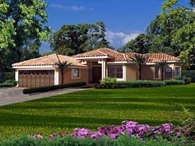 Florida House Plan 55873 with 3 Beds, 3 Baths, 2 Car Garage Elevation