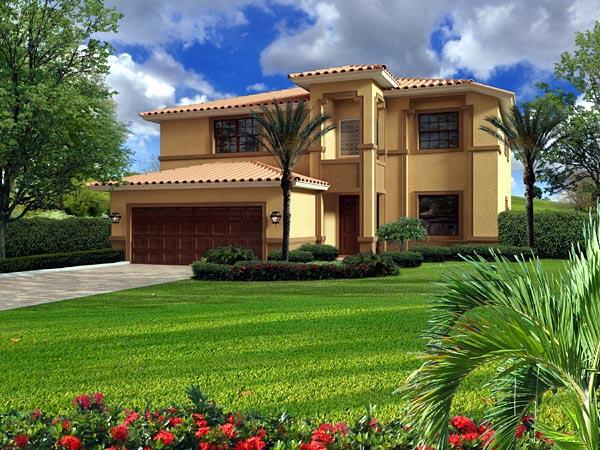 House Plan 55882 Elevation
