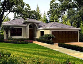 House Plan 55884 Elevation