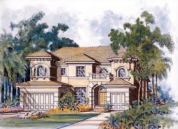 Mediterranean House Plan 55899 Elevation