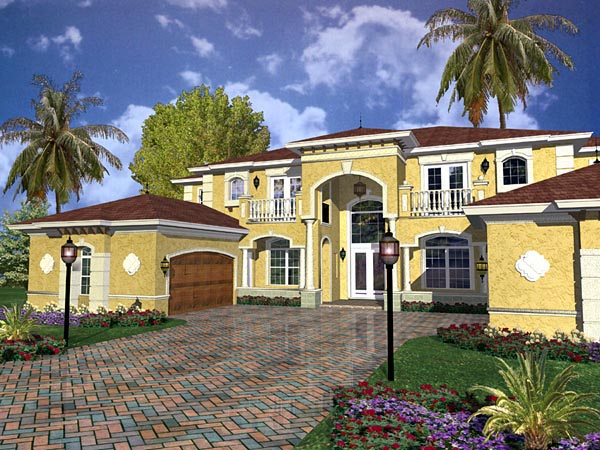 Mediterranean House Plan 55906 Elevation
