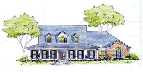 Country House Plan 56002 Elevation