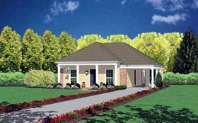 Colonial House Plan 56007 Elevation