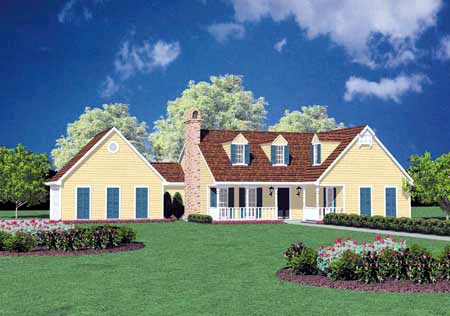 Country House Plan 56030 Elevation
