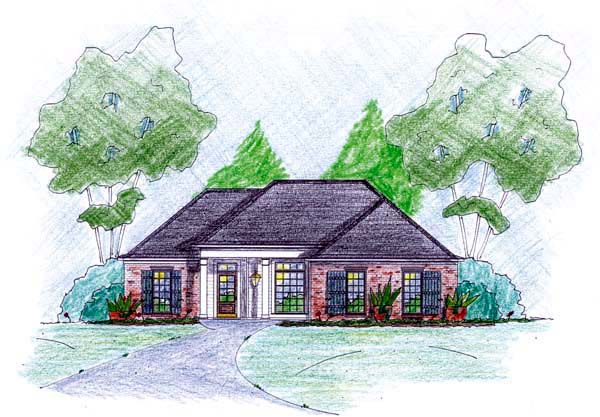Traditional House Plan 56043 Elevation