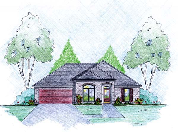 Traditional House Plan 56044 Elevation