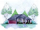 Plan Number 56044 - 1490 Square Feet