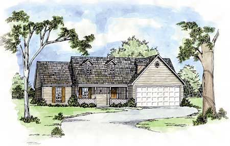 Country House Plan 56048 Elevation