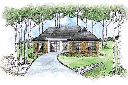 Country House Plan 56070 Elevation