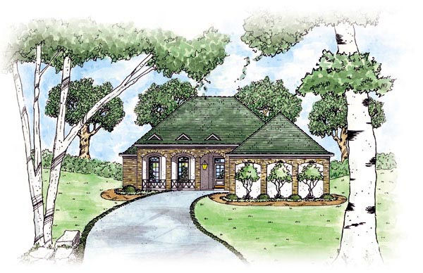 European House Plan 56073 Elevation