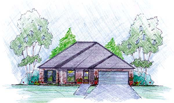Traditional House Plan 56074 Elevation