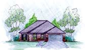 Plan Number 56074 - 1487 Square Feet