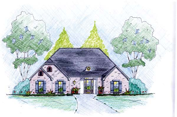 Traditional House Plan 56075 Elevation