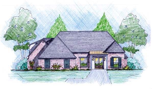 Traditional House Plan 56076 Elevation
