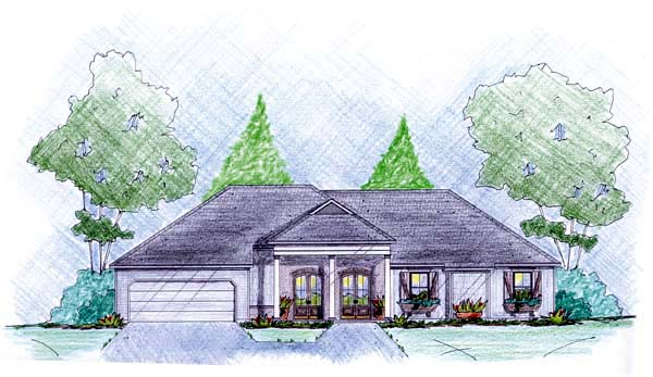 Traditional House Plan 56078 Elevation