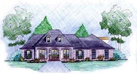 Traditional House Plan 56080 with 3 Beds, 2 Baths, 2 Car Garage Elevation