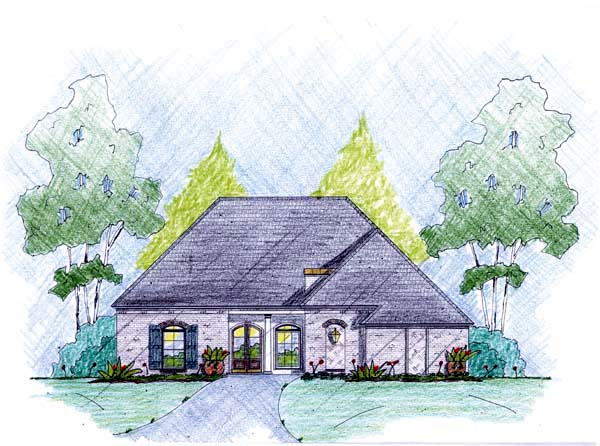 Traditional House Plan 56082 Elevation