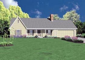 Ranch House Plan 56087 Elevation