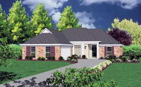 Colonial House Plan 56091 Elevation