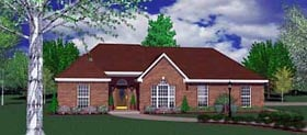 Traditional House Plan 56136 with 4 Beds, 2 Baths, 2 Car Garage Elevation