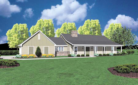 Country House Plan 56139 with 3 Beds, 2 Baths, 2 Car Garage Elevation