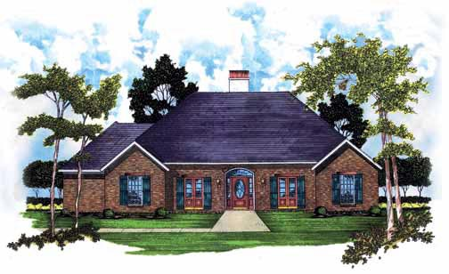 Traditional House Plan 56151 Elevation