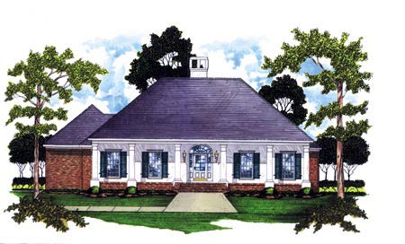 Colonial House Plan 56152 Elevation