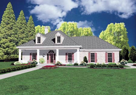 Colonial House Plan 56153 Elevation