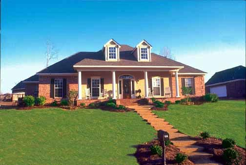 Colonial House Plan 56155 Elevation