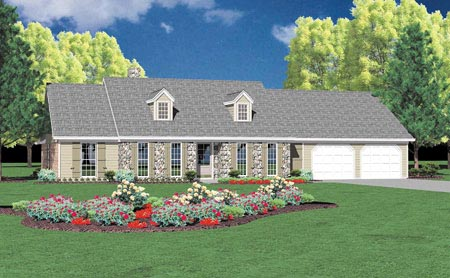 Ranch House Plan 56161 Elevation