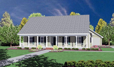 Country House Plan 56164 Elevation