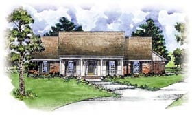 Country House Plan 56167 Elevation