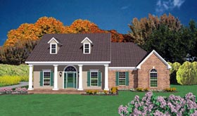 Colonial House Plan 56170 Elevation
