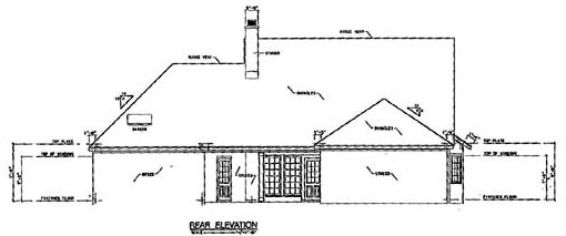 Colonial House Plan 56170 Rear Elevation