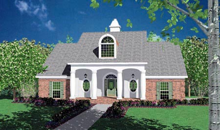 Colonial House Plan 56177 Elevation