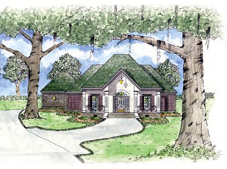 Colonial House Plan 56179 Elevation