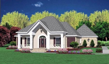 Contemporary House Plan 56180 Elevation