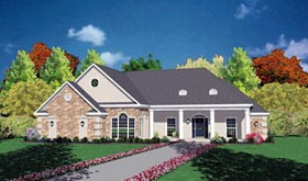 European House Plan 56181 Elevation