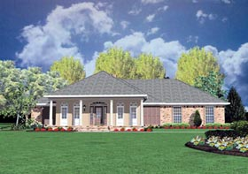 Colonial House Plan 56188 Elevation