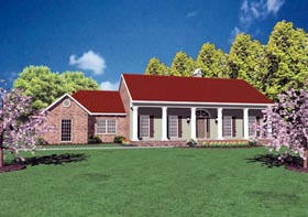 Colonial House Plan 56193 Elevation