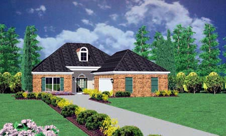 European House Plan 56199 Elevation