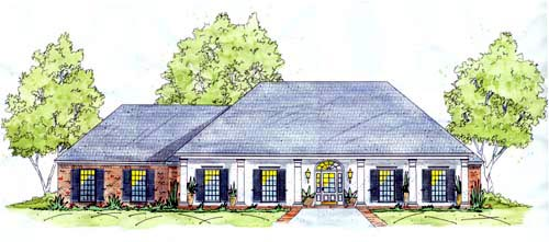 European House Plan 56201 Elevation