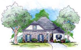 European House Plan 56202 Elevation