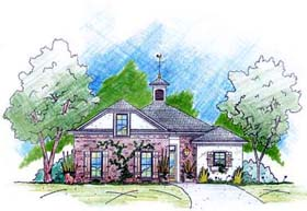 Traditional House Plan 56203 with 3 Beds, 2 Baths, 2 Car Garage Elevation