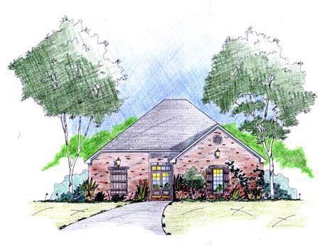 House Plan 56204 Elevation