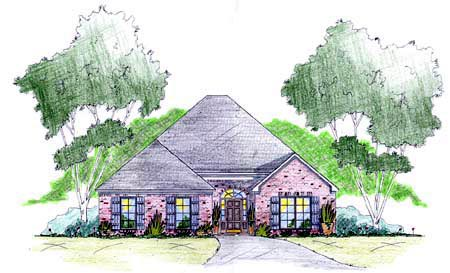 House Plan 56205 Elevation