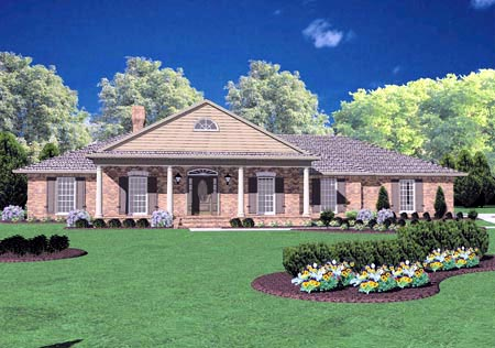 Colonial House Plan 56208 Elevation